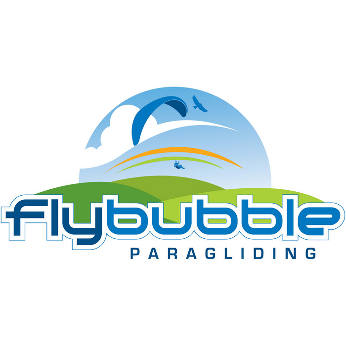 The actual wing being sold, with small Flybubble logo was added to lower surface.