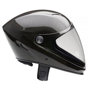 Icaro NeroHero Full Carbon full face freeflight helmet with Transparent visor (included)