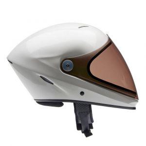 Icaro NeroHero Pearl White full face freeflight helmet with Tinted brown visor (optional extra)