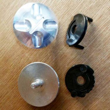 Type C Icaro SkyRunner Visor Fixing System (thin screw): for new helmet and original (old) visor