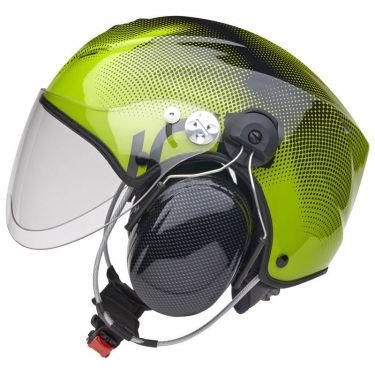 Icaro Solar X Black-Green with Solar X Visor SHORT transparent