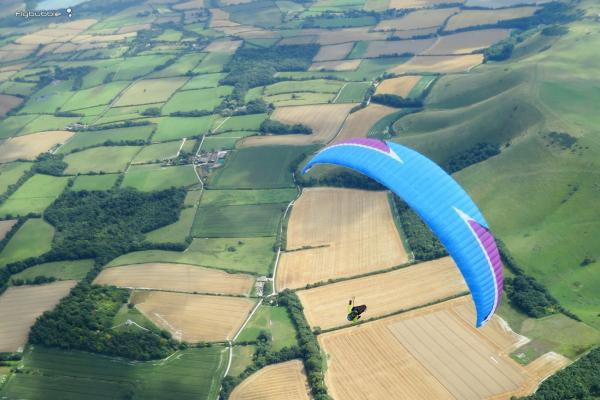 Light wind freedom on a paraglider (or hang glider)