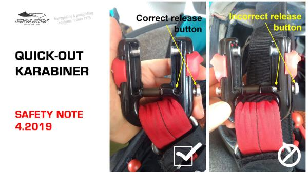 Safety Notice: Charly QUICK-OUT karabiners