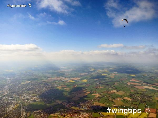 Wingtips: Flatland distance