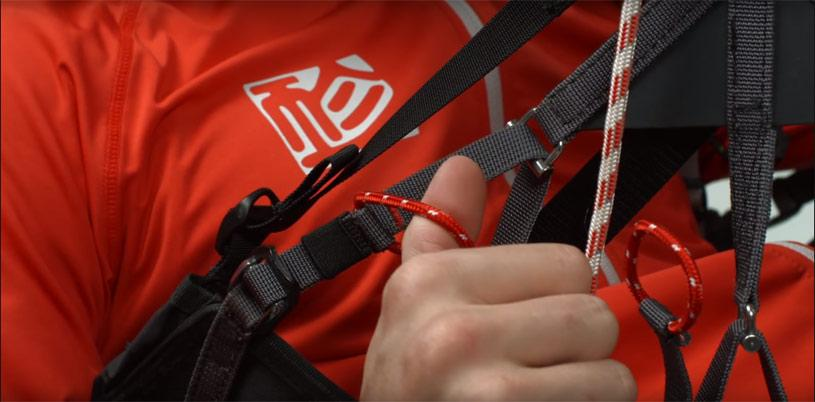 Setting up your paragliding harness