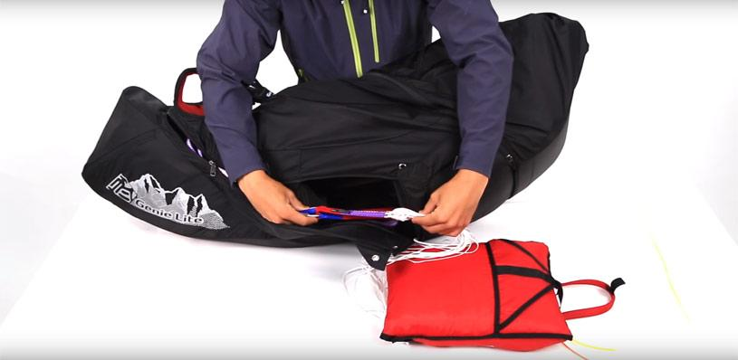 Paragliding harness maintenance