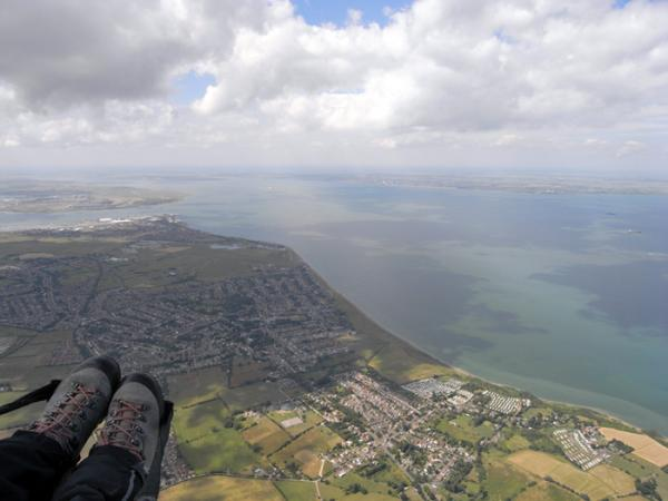 Paragliding flight from Lewes in East Sussex to Sheerness on the Isle of Sheppey!