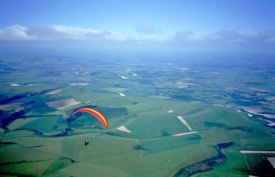 Cross Country Paragliding Flight from Bo Peep Hill by Carlo Borsattino