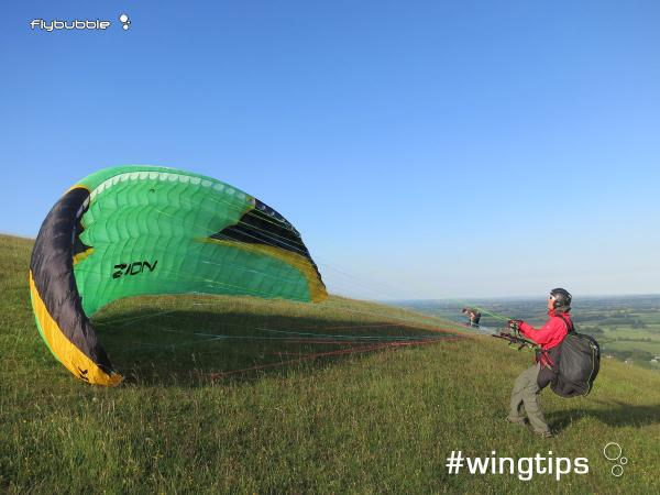 Wingtips: Strong wind launching