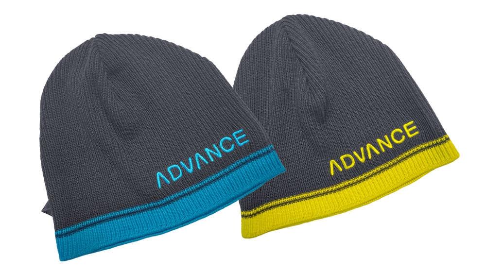 Advance Beanie light - all season colours: Blue-Turkis, Grey-Yellow