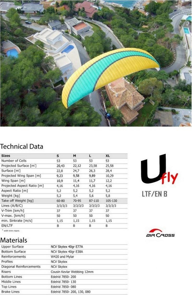 AirCross U Fly data