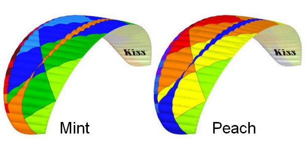 BGD KISS colours: Mint, Peach
