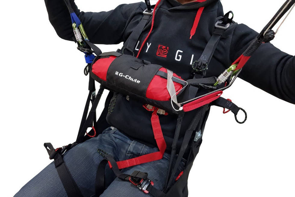 Gin G-chute (drag parachute) mounted in optional Gin G-chute Pocket (not included)