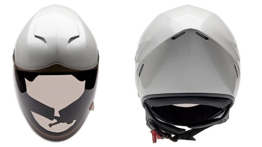Icaro NeroHero Pearl White airflow inside the helmet