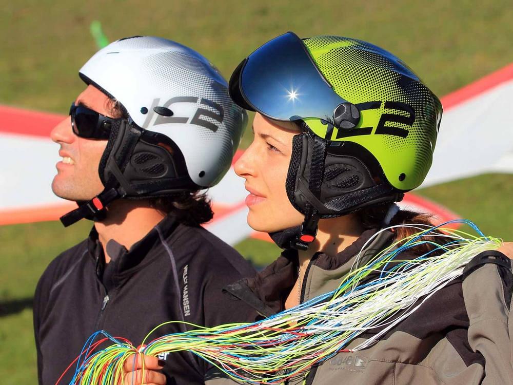Icaro Nerv, open-face freeflight helmet
