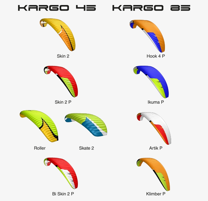 Niviuk Kargo 45 & 85: Niviuk wings compatible with the Kargo rucksack