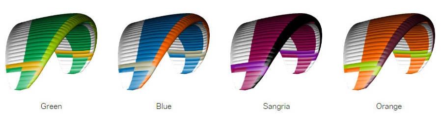 Nova ION 6 standard colours: Green, Blue, Sangria, Orange