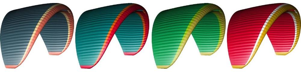 Nova MENTOR 6 standard colours: Blue; Aqua; Green; Red.