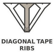 Diagonal Tape Ribs