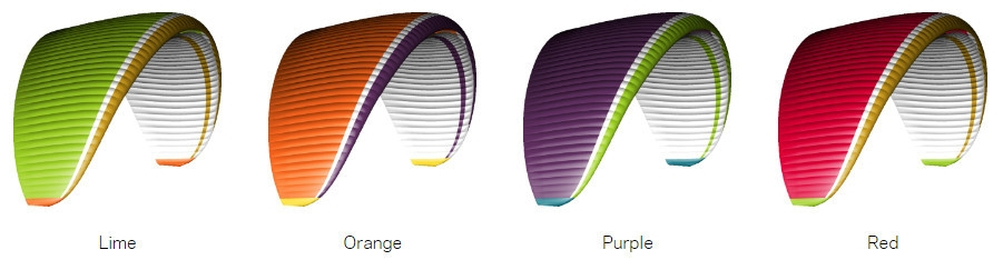 Standard Colours: Lime | Orange | Purple | Red