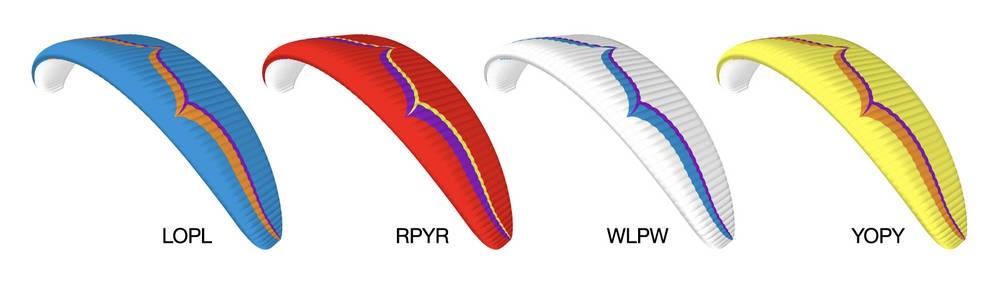 Standard colours (Ozone colour codes): LOPL, RPYR, WLPW, YOPY.