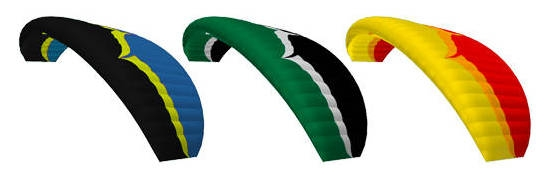 Ozone Dragonfly standard colours: KYI, CWK, YOR (Ozone colour codes)