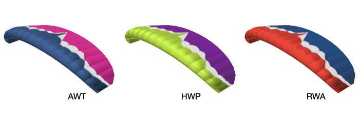 Ozone Fazer 4 standard colours (Ozone colour codes): AWT, HWP, RWA.