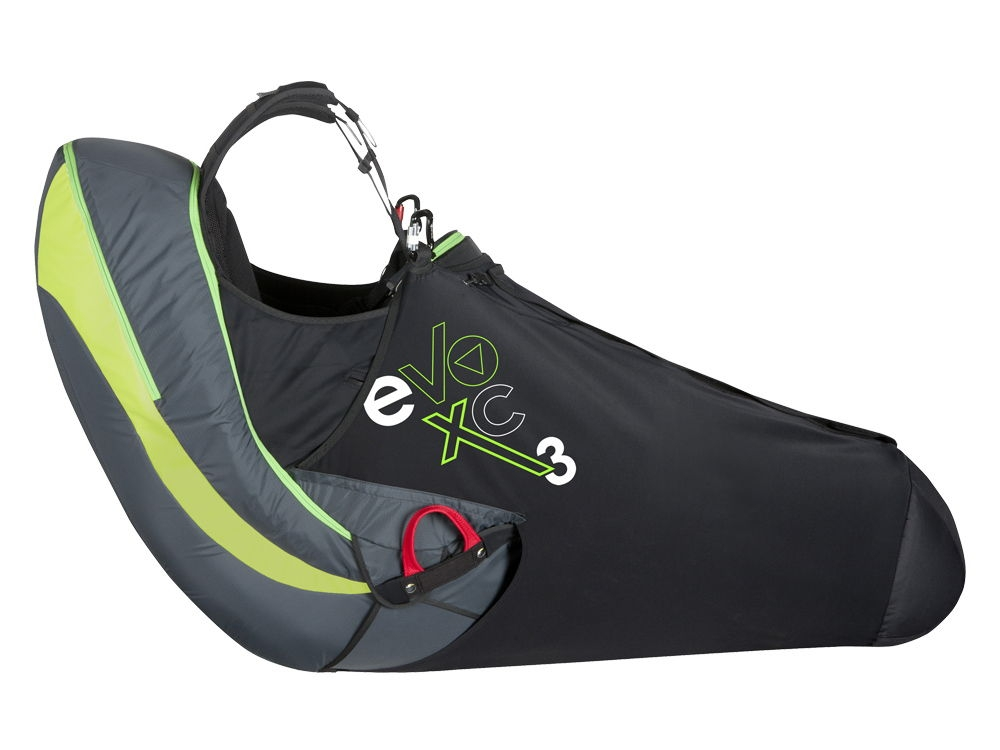 Supair Evo XC 3 (new colours) with Supair Speedbag Evo XC 3 fitted (optional extra)