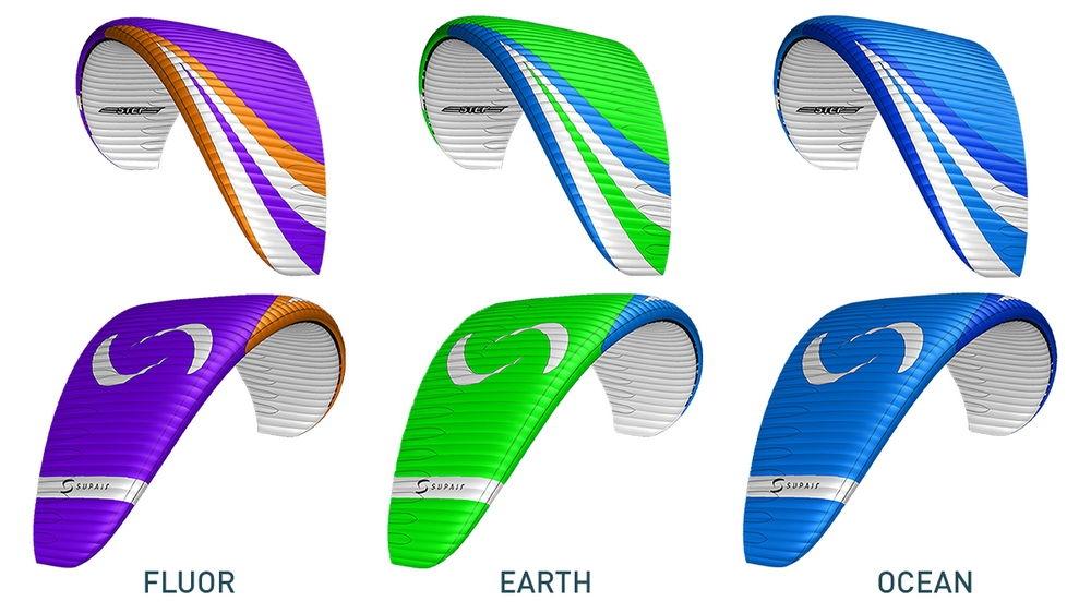 Colours: Fluor, Earth, Ocean | Supair STEP