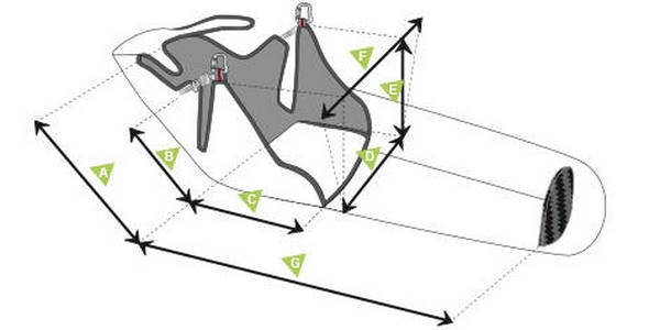 Supair STRIKE sizes & measurements diagram