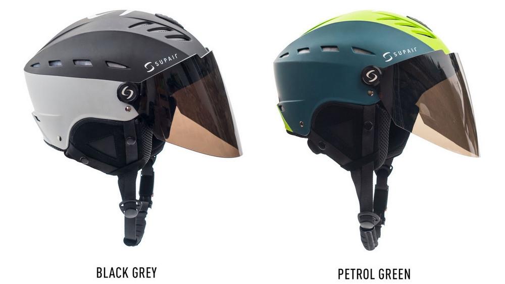 Supair VISOR HELMET colours: Black-Grey, Petrol-Green