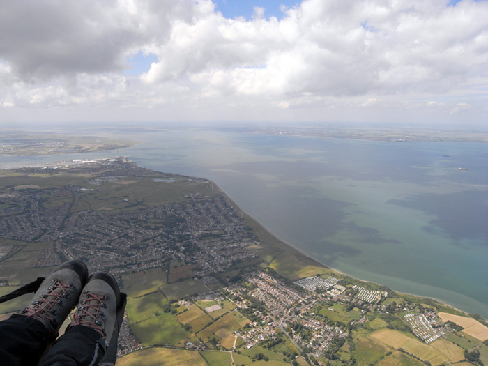 2008.07.04 Paragliding flight from Lewes in East Sussex to Sheerness on the Isle of Sheppey