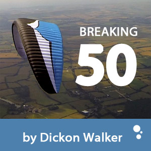 Breaking 50km by Paraglider (by Dickon Walker)