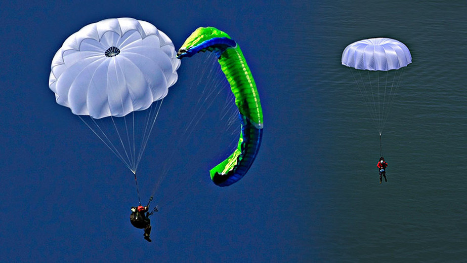 Paragliding reserve parachute guide: PDA