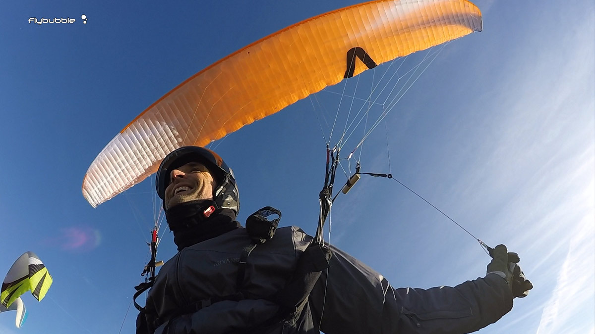Skywalk Poison Xalps review - wing overhead