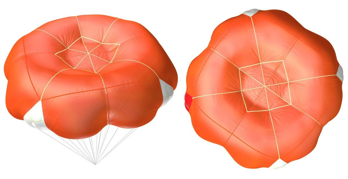 Paragliding reserve parachute guide Square Round (SQR)
