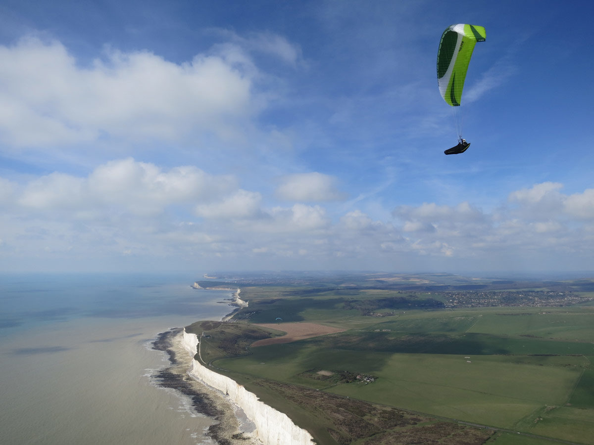 High above Beachy Head