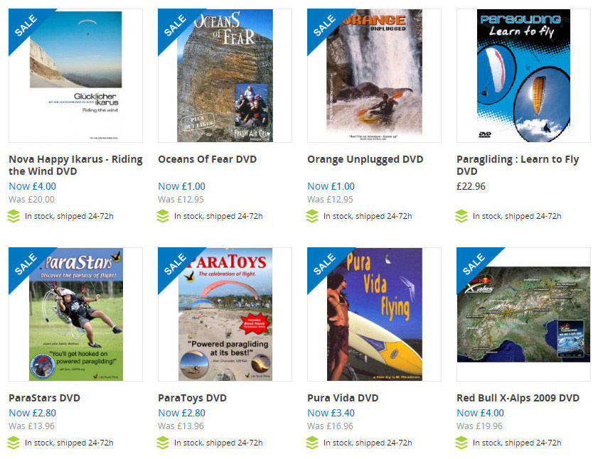 Paragliding movies cheap