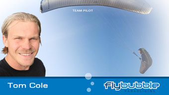 Flybubble Team Pilot TOM COLE