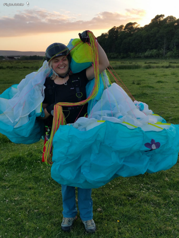 Michelle Paragliding Ground Training Flybubble Blog