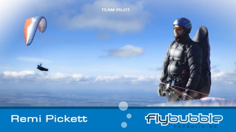 Flybubble Team Pilot REMI PICKETT