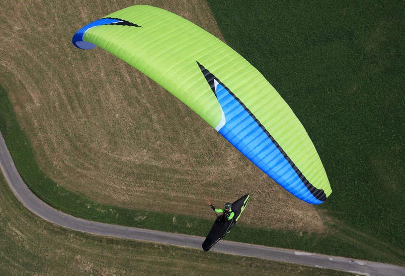 An advanced paraglider wing and harness