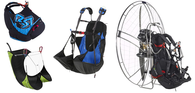 specialist paragliding harnesses