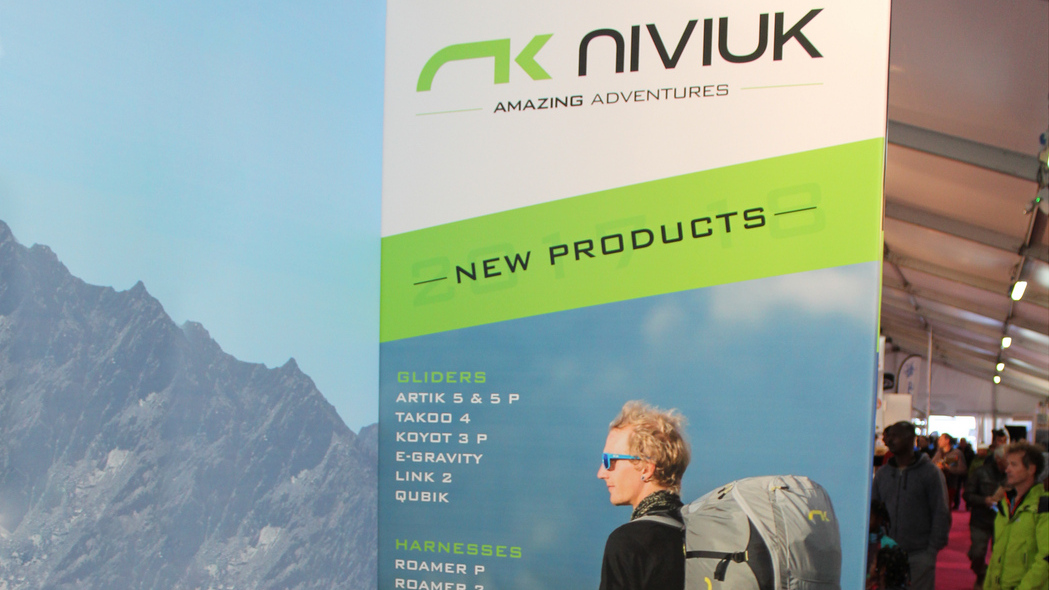 Niviuk stand at Coupe Icare Expo 2017