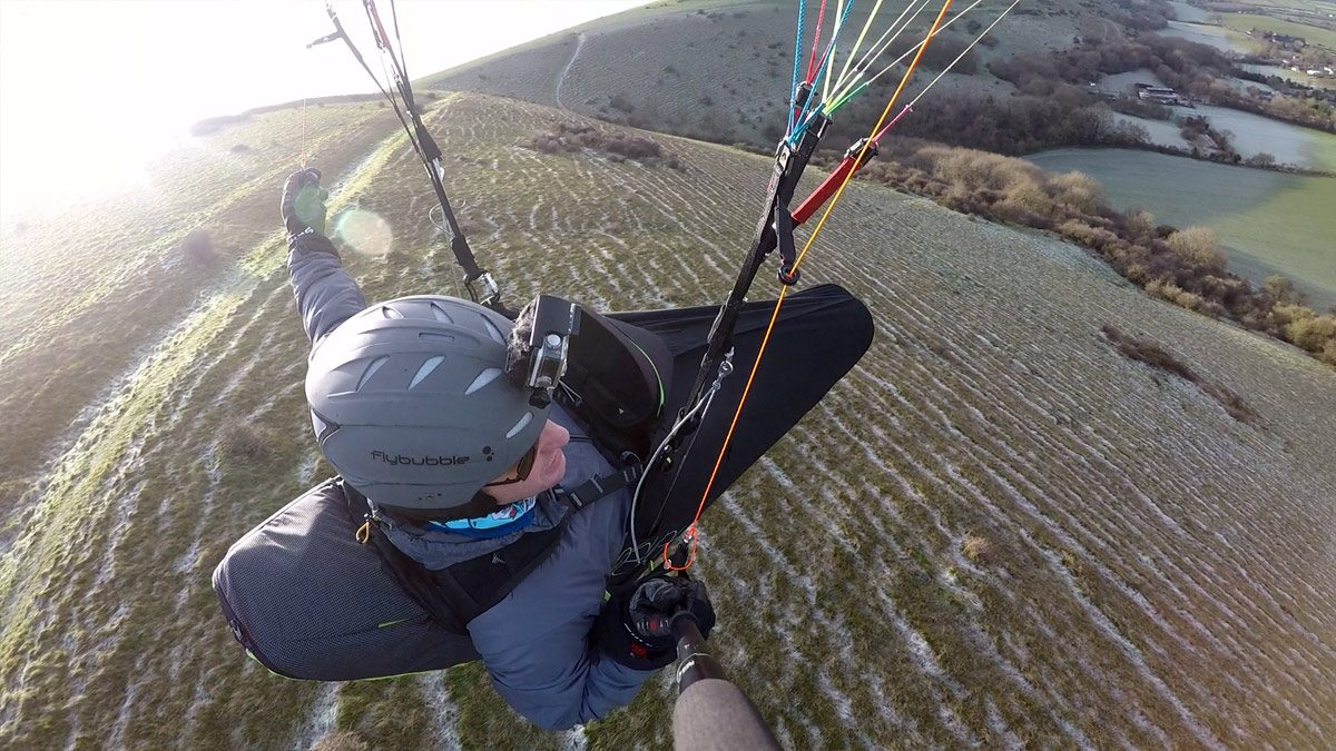 Supair DELIGHT 2 paraglider harness review: banked