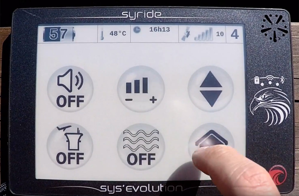 Syride SYS'EVOLUTION review: menu
