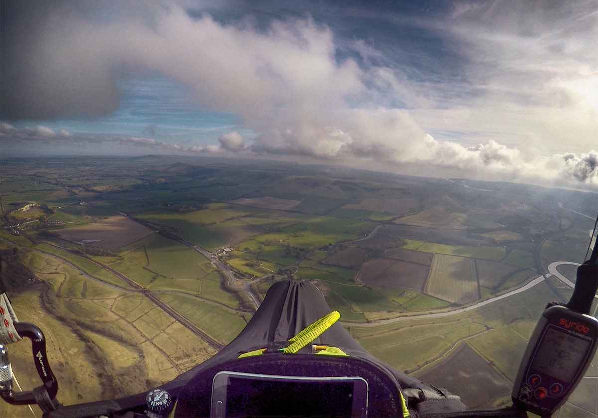How to use small broken thermals: gliding