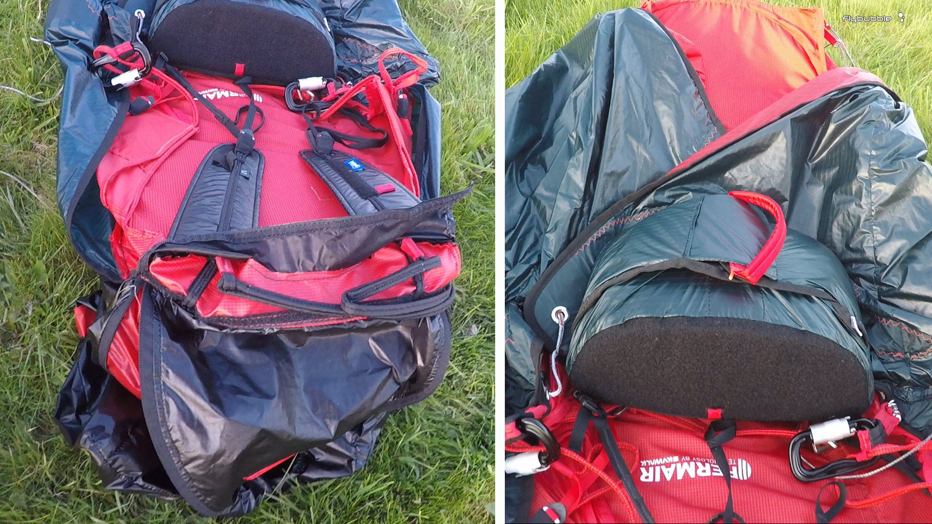 Skywalk RANGE XALPS 2 Review: shoulders and reserve