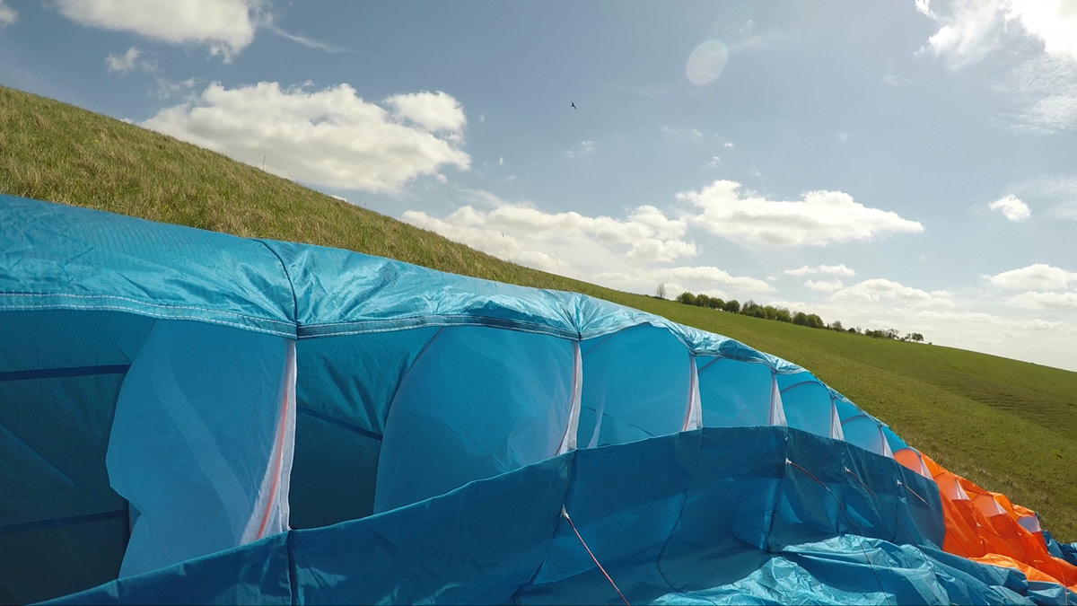 Phi SONATA paraglider review: leading edge