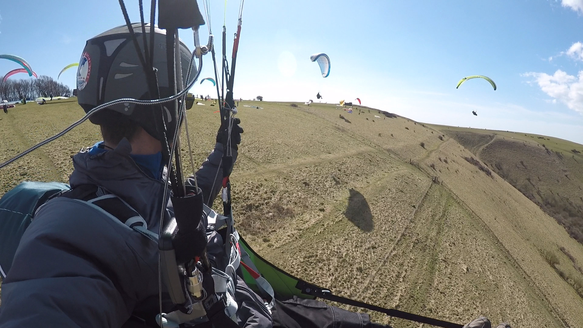 How to fly in paragliding traffic: look ahead